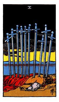 Arcano menor 10 espadas